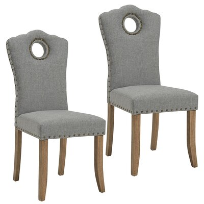 Bentonville Fabric Upholstered Dining Chair Upholstery Color: Gray/Light Gray