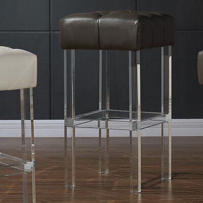 Jai 30 Bar Stool Upholstery: Gray