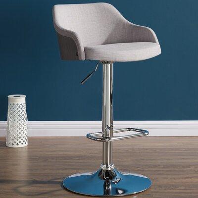 Abraham 24.80 Bar Stool Upholstery: Gray