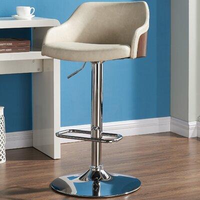 Abraham 24.80 Bar Stool Upholstery: Ivory