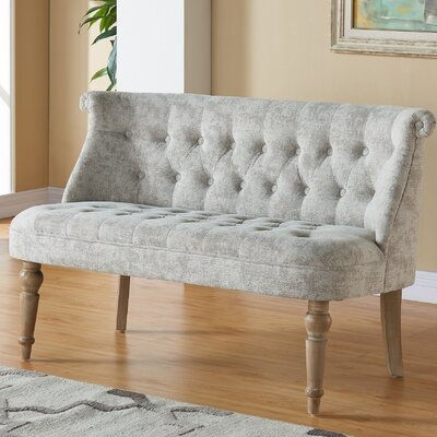 Hartsville Fabric Button Tufted Settee Upholstery: Beige