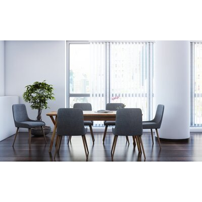 Michie 7 Piece Dining Set Upholstery Color: Dark Gray