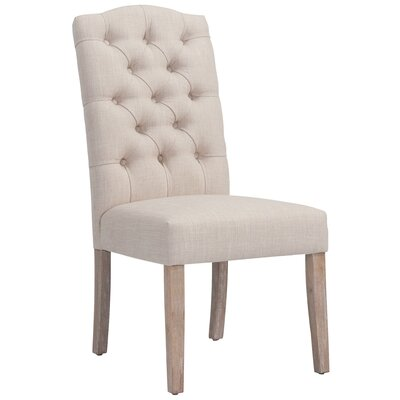 Bathilde Upholstered Dining Chair Upholstery Color: Grey