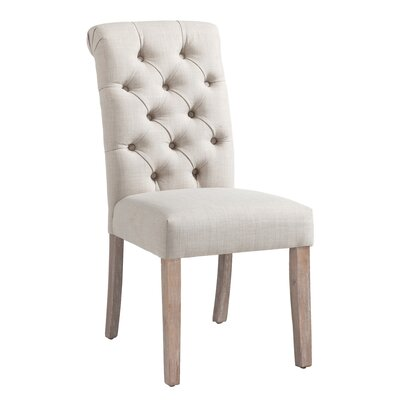 Bathilde Upholstered Dining Chair Upholstery Color: Beige