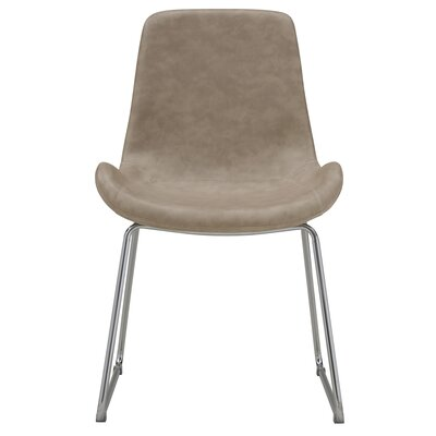 Moulton Side Chair Upholstery: Ivory