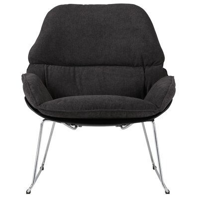 Chappell Upholstered Side Chair Upholstery: Charcoal