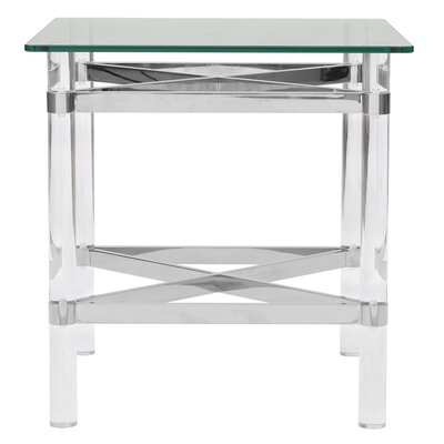 Aghalislone End Table Table Base Color: Chrome