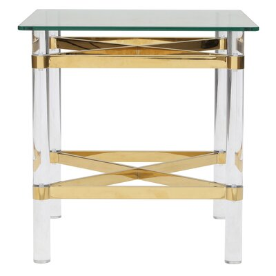 Aghalislone End Table Table Base Color: Gold