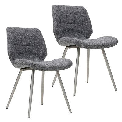 Aghanliss Upholstered Dining Chair Upholstery Color: Gray