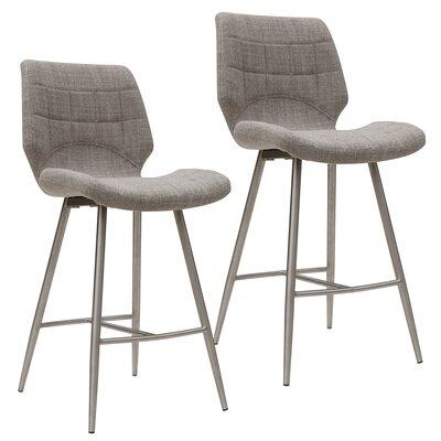 Akron 38 Bar Stool Upholstery: Beige