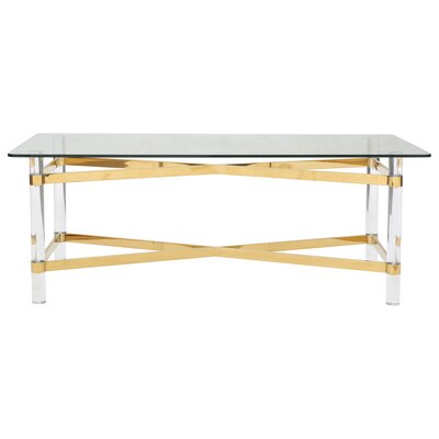 Rhem Coffee Table Table Base Color: Gold
