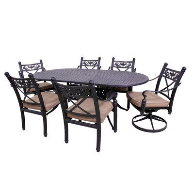 Baldwin 7 Piece Oval Dining Set Table Size: 42 W x 72 D