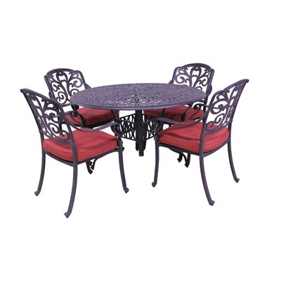 Roma 5 Piece Dining Set with Cushions