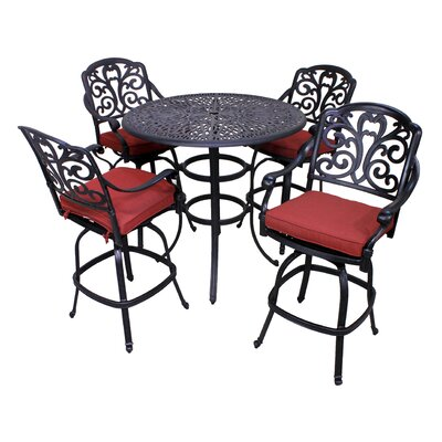 Roma 5 Piece Bar Set with Cushion