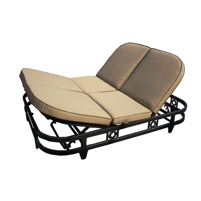 La Jolla Double Reclining Chaise Lounge Cushion - Product photo