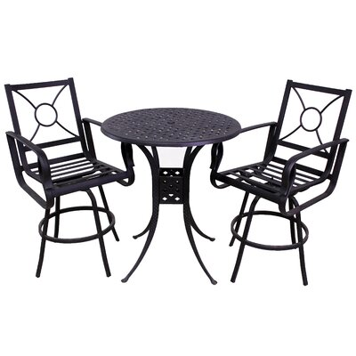 Waynesburg 3 Piece Dining Set