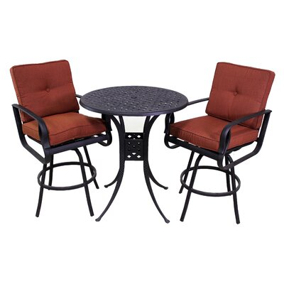 Waynesburg 3 Piece Dining Set with Cushions