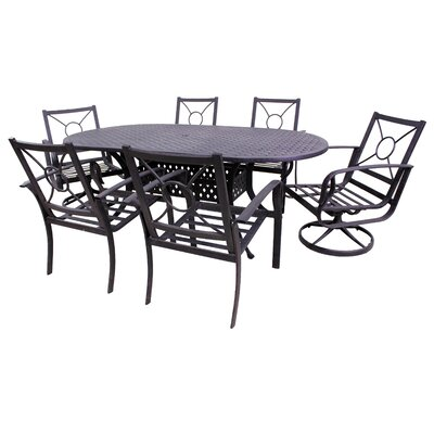 Waynesburg Oval 7 Piece Dining Set with Cushions