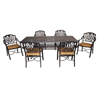 Wasserhund 7 Piece Dining Set with Cushions