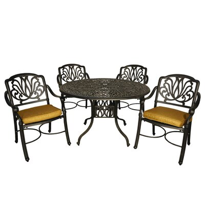 Wasserhund 5 Piece Dining Set with Cushions