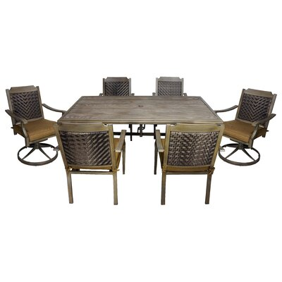 Darcey 7 Piece Dining Set with Cushions