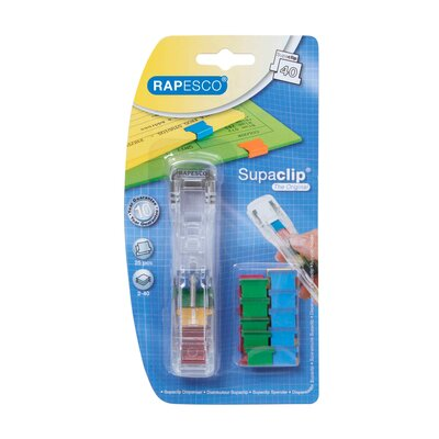 Supaclip See Through Dispenser and 25 Clips Color: Multicolored