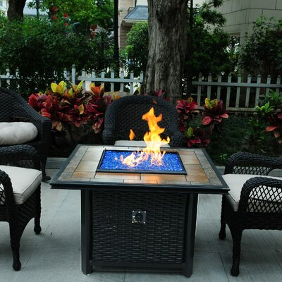 Woven Wicker Chat Height Fire Pit