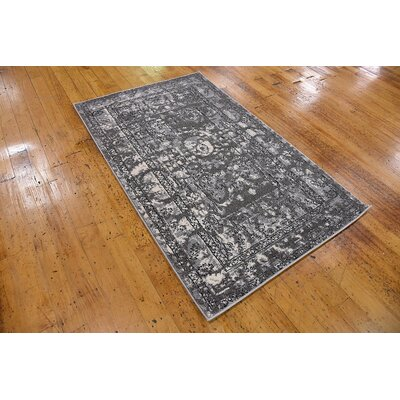 Lisbon Gray Area Rug Rug Size: Rectangle 33 x 53