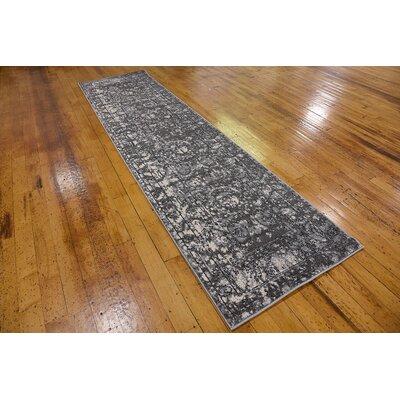 Lisbon Gray Area Rug Rug Size: Runner 27 x 10