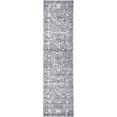 Kelaa Gray Area Rug Rug Size: Runner 27 x 10
