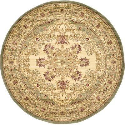 Isfahan Cream Area Rug Rug Size: Round 6'