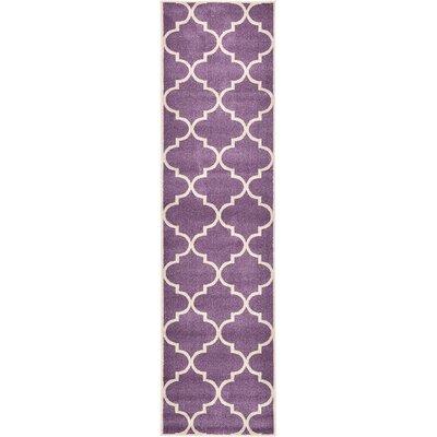 Trellis Purple Area Rug Rug Size: Runner 2'7