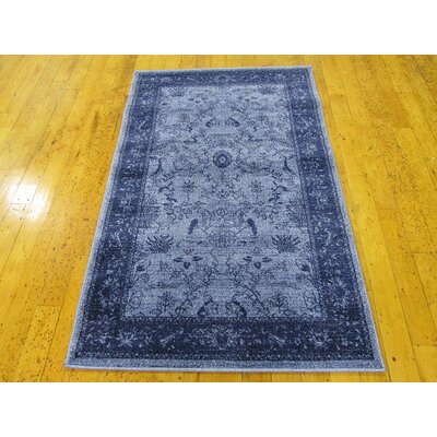 Attleborough Blue Area Rug Rug Size: 33 x 53