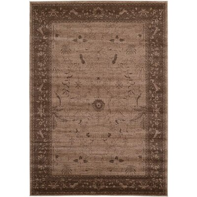La Jolla Dark Brown Area Rug Rug Size: 7' x 10'