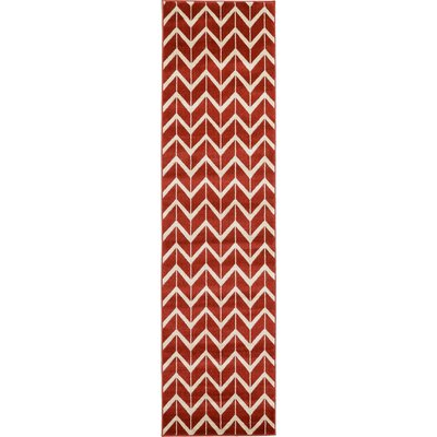 Darby Rust Red Area Rug Rug Size: 5 x 8