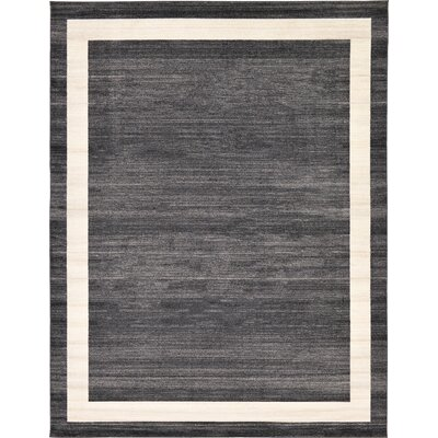 Carson Black/Cream Area Rug Rug Size: 6 x 9