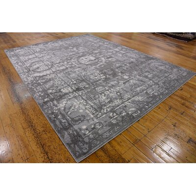Lisbon Gray Area Rug Rug Size: Rectangle 9 x 12