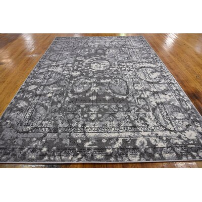 Lisbon Gray Area Rug Rug Size: Rectangle 7 x 10