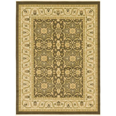 Oberlin Brown Area Rug Rug Size: 5 x 8