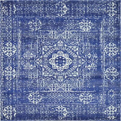 Navy Blue Area Rug Rug Size: Square 84