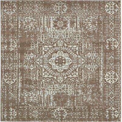 Light Brown Area Rug Rug Size: Square 8'4