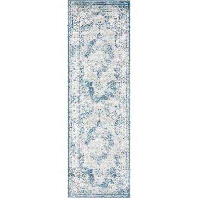 Brandt Tibetan Blue Area Rug Rug Size: Runner 2 x 13