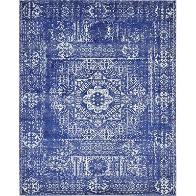 Navy Blue Area Rug Rug Size: 8 x 10
