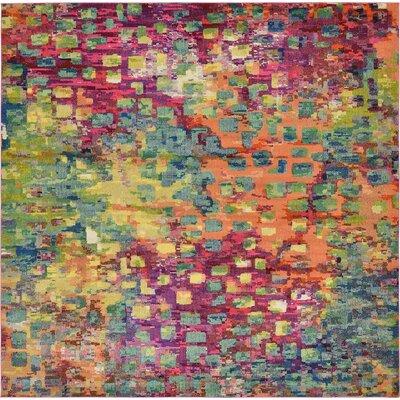 Barcelona Green/Pink Area Rug Rug Size: Square 122