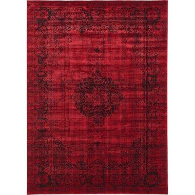 Florence Burgundy/Black Area Rug Rug Size: 5 x 8