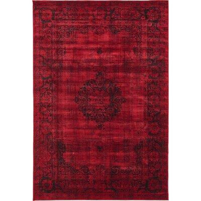 Florence Burgundy/Black Area Rug Rug Size: 9 x 12