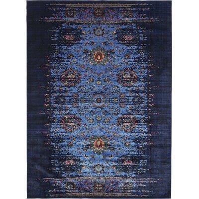 Florence Navy Blue/Black Area Rug Rug Size: 5 x 8