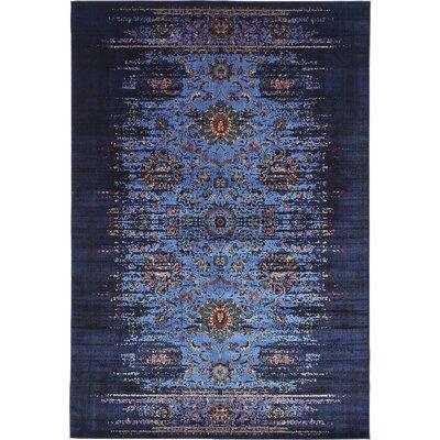 Florence Navy Blue/Black Area Rug Rug Size: 8 x 10