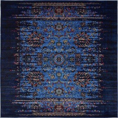 Florence Navy Blue/Black Area Rug Rug Size: 9 x 12
