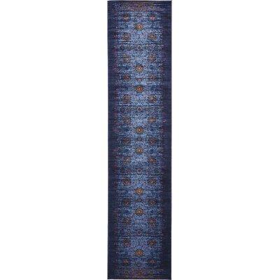 Florence Navy Blue/Black Area Rug Rug Size: Runner 3 x 13